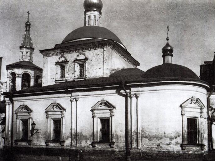 10. Церковь Георгия в Старых Лучниках. Фоторгафия 1909 года