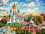 6. Разживин И.В. Зачатьевский монастырь, освещенный солнцем. 2016 год
