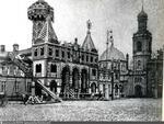 21. Тверская полицейская часть, украшенная к коронации и церковь Космы и Дамиана в Шубине. Фотография 1996 года